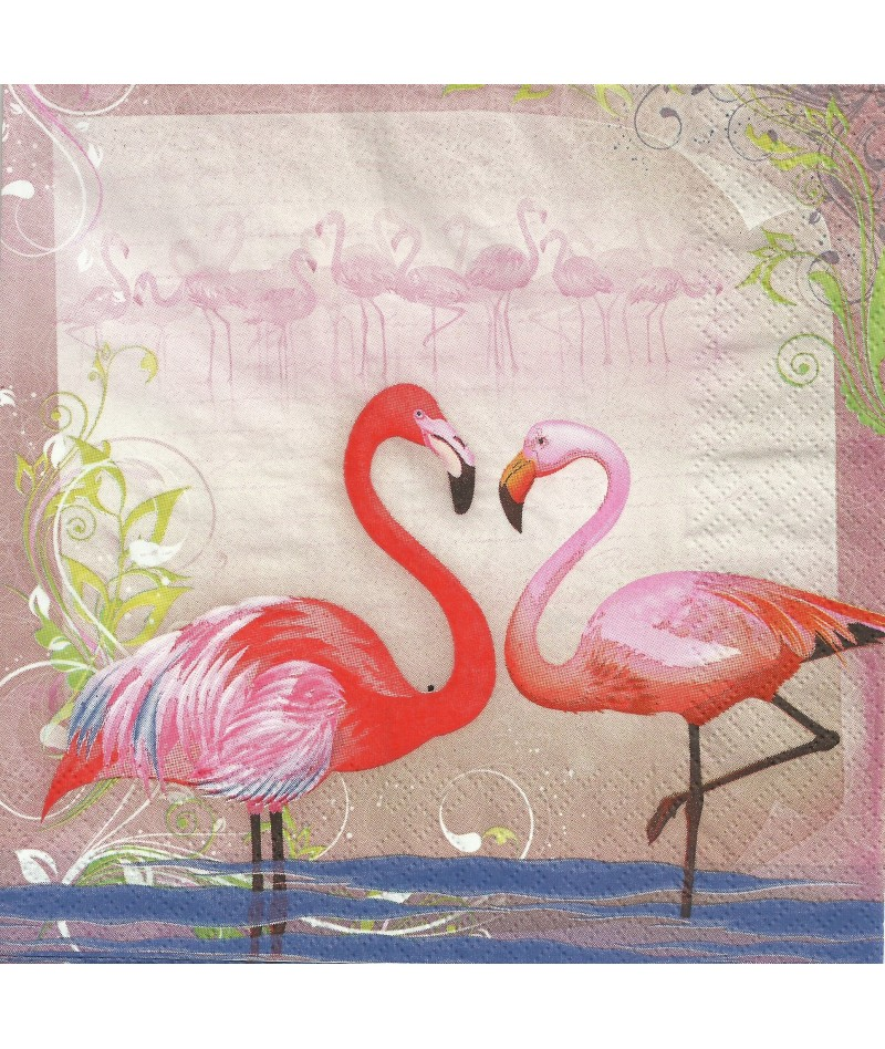 Serwetka Decoupage Flamingi...