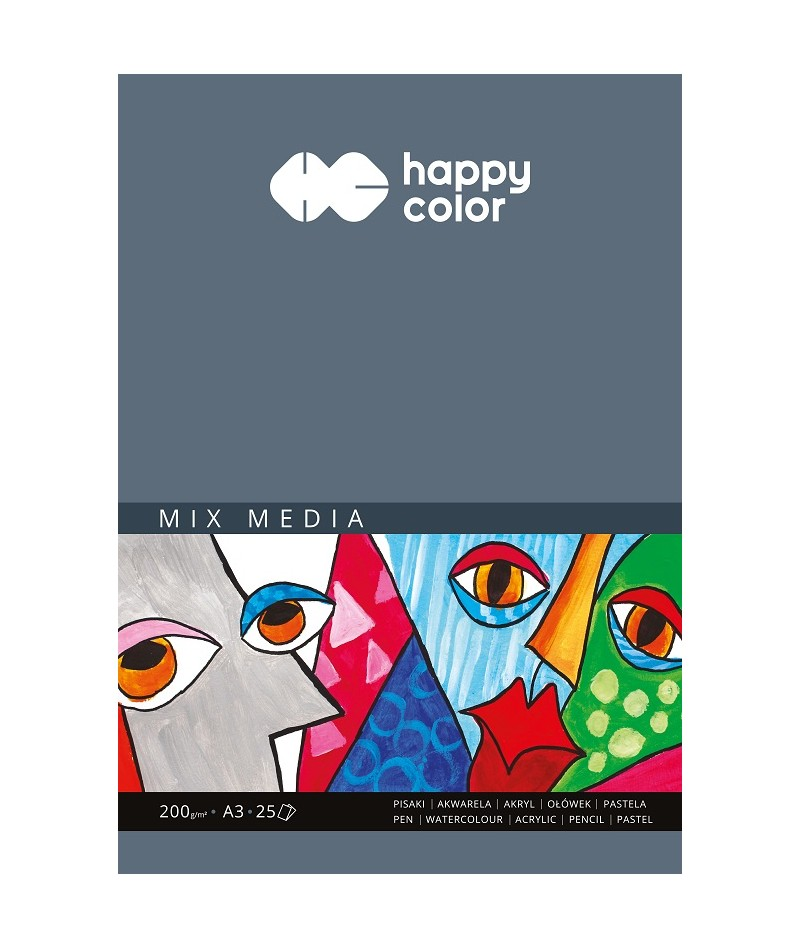 Blok Mix Media Happy Color...